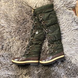 RARE Tory Burch Thigh High Puffy Boots